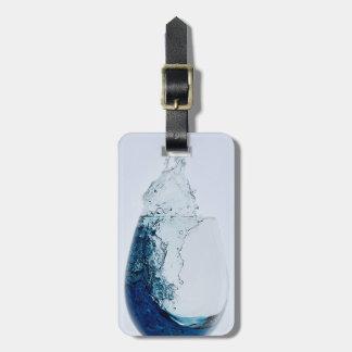 Etiqueta De Bagagem Vidro do viagem do licor azul
