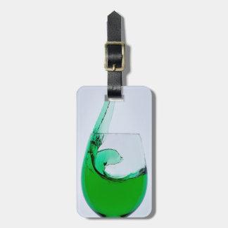 Etiqueta De Bagagem Vidro do viagem do licor verde
