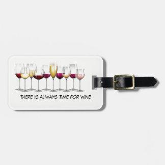 Etiqueta De Bagagem Vidros de vinho ilustrados com vinho
