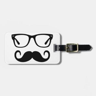 Etiqueta De Bagagem Vidros do hipster & bigode do guiador