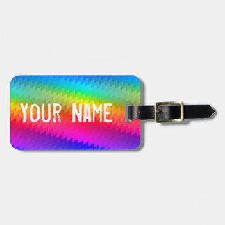 Etiqueta De Bagagem Viga do arco-íris