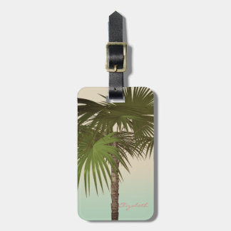 Etiqueta De Bagagem Vintage bonito tropical, palmeira