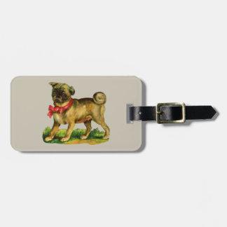 Etiqueta De Bagagem vintage do pug
