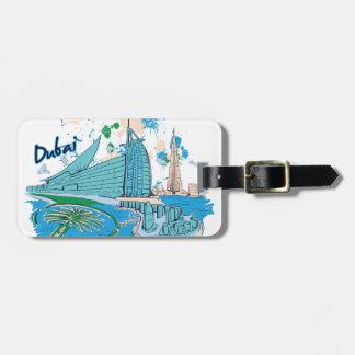 Etiqueta De Bagagem vintage Dubai nós design de e