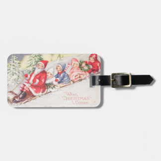 Etiqueta De Bagagem vintage-santa-christmas-post-cards-0390