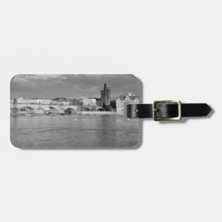 Etiqueta De Bagagem Vista da ponte de Charles em Praga