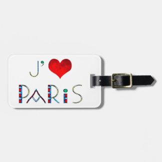 Etiqueta De Bagagem Vitral personalizado de Paris Notre Dame do amor