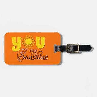 Etiqueta De Bagagem Você é minha luz do sol