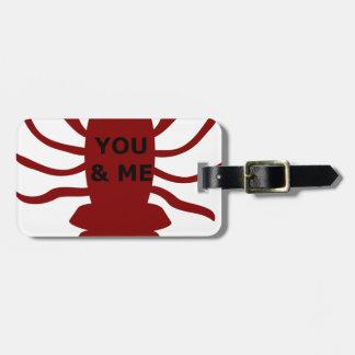 Etiqueta De Bagagem Você & eu são lagostas