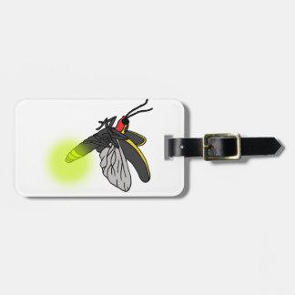 Etiqueta De Bagagem vôo 2 do inseto de relâmpago iluminado