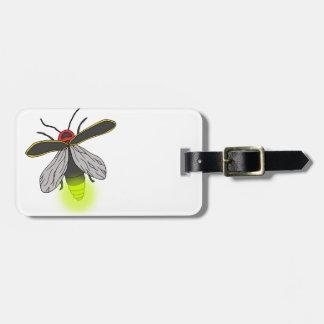 Etiqueta De Bagagem vôo do inseto de relâmpago iluminado