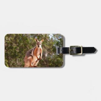 Etiqueta De Bagagem Wallaby de rocha amarelo-footed australiano