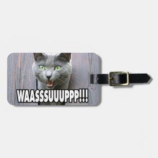 Etiqueta De Bagagem WASSUP - Gato Meme