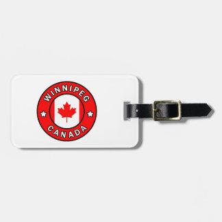 Etiqueta De Bagagem Winnipeg Canadá