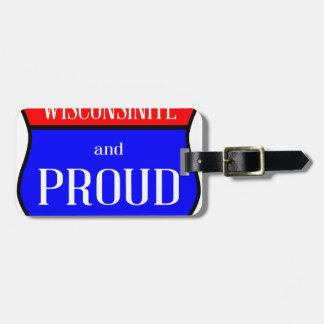 Etiqueta De Bagagem Wisconsinite e orgulhoso