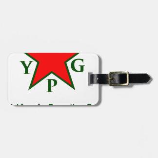 Etiqueta De Bagagem ypg-ypj - kobani do apoio - claro