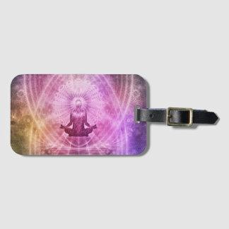 Etiqueta De Bagagem Zen espiritual da meditação da ioga colorido