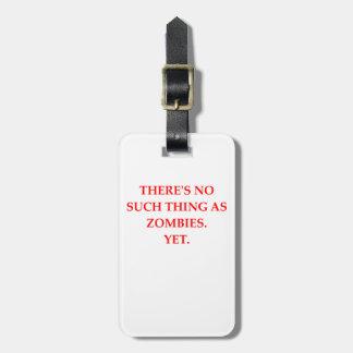 Etiqueta De Bagagem zombis