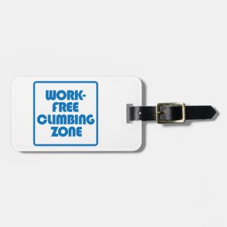 Etiqueta De Bagagem Zona de escalada livre do trabalho