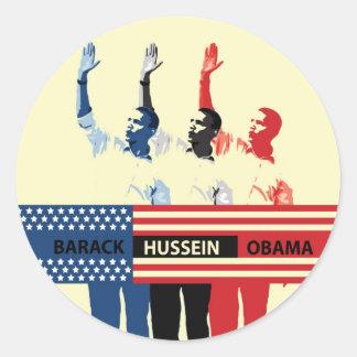 Etiqueta de Barack Hussein Obama Adesivo Em Formato Redondo
