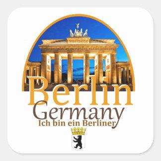 Etiqueta de BERLIM Adesivo Quadrado