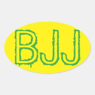 Etiqueta de BJJ - etiqueta de Jiu Jitsu do Adesivo Oval