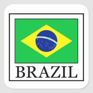 Etiqueta de Brasil Adesivo Quadrado