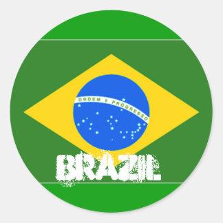 Etiqueta de Brasil Adesivo