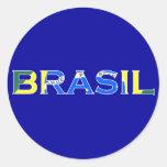 "Etiqueta de ""Brasil"" Adesivos Em Formato Redondos"