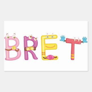 Etiqueta de Bret