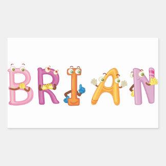 Etiqueta de Brian