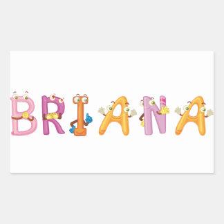 Etiqueta de Briana