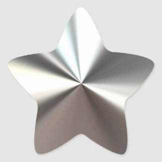 Etiqueta de brilho de prata adesito estrela