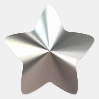 Etiqueta de brilho de prata adesivo estrela