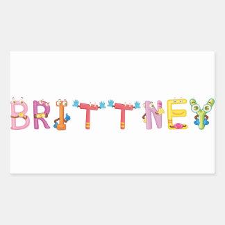 Etiqueta de Brittney