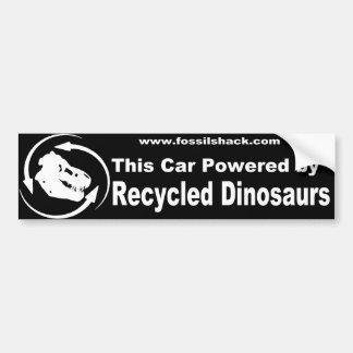 Etiqueta de Bumber dos dinossauros do reciclado Adesivo Para Carro