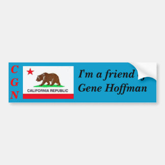 etiqueta de Calguns.net - amigo do gene Hoffman Adesivo Para Carro