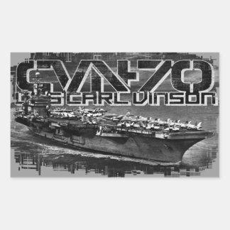 Etiqueta de Carl Vinson do porta-aviões