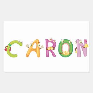 Etiqueta de Caron
