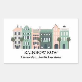 Etiqueta de Charleston South Carolina da fileira