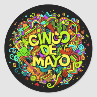 Etiqueta de Cinco de Mayo
