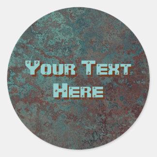"""Etiqueta """"de cobre"""" do texto do impressão da"""