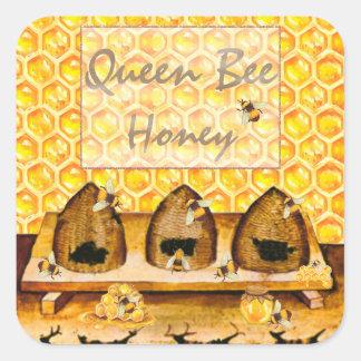 Etiqueta de colocação em latas do frasco do mel