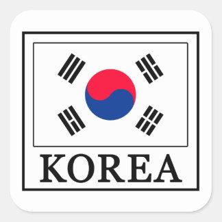 Etiqueta de Coreia