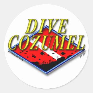 Etiqueta de Cozumel do mergulho Adesivo