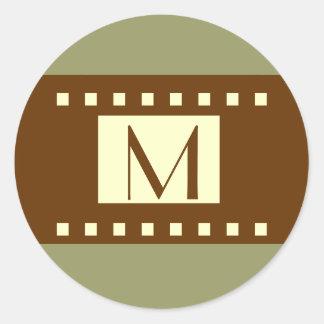 Etiqueta de creme do casamento do monograma de adesivo