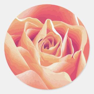 Etiqueta de creme do rosa do rosa adesivo