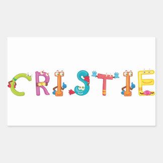 Etiqueta de Cristie