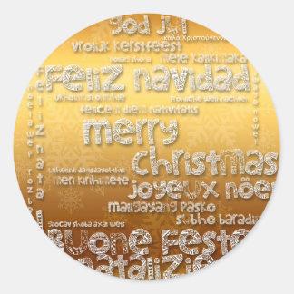 Etiqueta de cumprimento de Navidad R do Natal