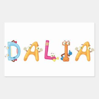 Etiqueta de Dalia